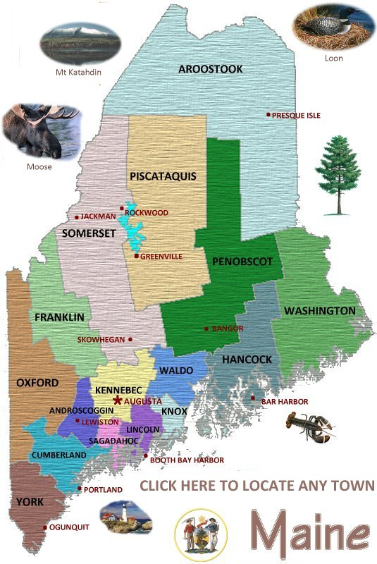 Maine Vacations Visit Maine Outdoor and Travel Adventures – Maine Travel Map